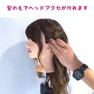 簡単ヘアアレンジ 女子会 ショート デート ヘアスタイルや髪型の写真・画像