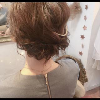 ヘアアレンジ ボブ 結婚式 フェミニン ヘアスタイルや髪型の写真・画像 ヘアスタイルや髪型の写真・画像