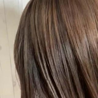 ハイライト エレガント ボブ ブリーチオンカラー ヘアスタイルや髪型の写真・画像
