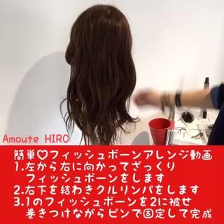 ショート 簡単ヘアアレンジ 上品 セミロング ヘアスタイルや髪型の写真・画像