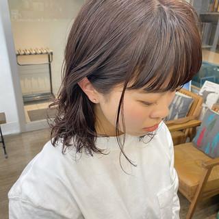 ピンクブラウン ベリーピンク ボブ ピンクベージュ ヘアスタイルや髪型の写真・画像