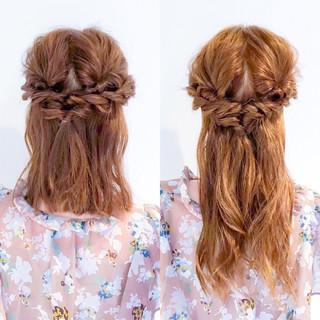 簡単ヘアアレンジ ロング フェミニン 大人女子 ヘアスタイルや髪型の写真・画像