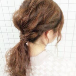 波ウェーブ ショート 簡単ヘアアレンジ ヘアアレンジ ヘアスタイルや髪型の写真・画像 ヘアスタイルや髪型の写真・画像