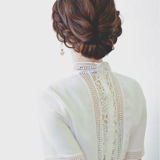 結婚式 女子会 ヘアアレンジ デート ヘアスタイルや髪型の写真・画像