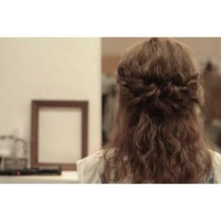 ナチュラル 外国人風 ヘアアレンジ ショート ヘアスタイルや髪型の写真・画像
