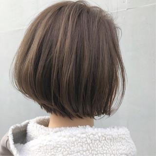 アッシュベージュ アッシュグレージュ ボブ ナチュラル ヘアスタイルや髪型の写真・画像