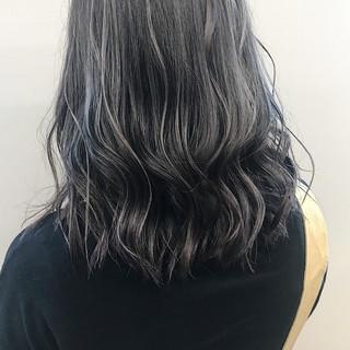 コントラストハイライト ハイトーンカラー アディクシーカラー ミディアム ヘアスタイルや髪型の写真・画像
