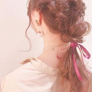 ヘアアレンジ ガーリー ロング デート ヘアスタイルや髪型の写真・画像