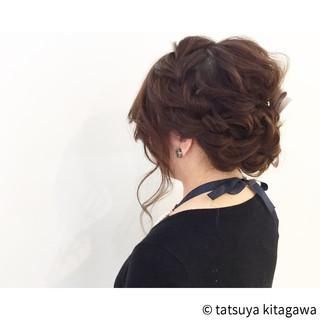 外国人風 セミロング 花嫁 ハイライト ヘアスタイルや髪型の写真・画像