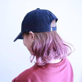 フェミニン ハイトーン ピンク ラベンダーピンク ヘアスタイルや髪型の写真・画像
