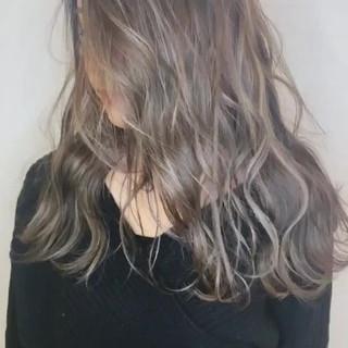 セミロング 成人式 ハイライト ヘアアレンジ ヘアスタイルや髪型の写真・画像