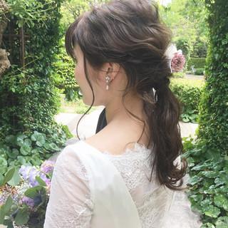 愛され モテ髪 花嫁 ナチュラル ヘアスタイルや髪型の写真・画像 ヘアスタイルや髪型の写真・画像