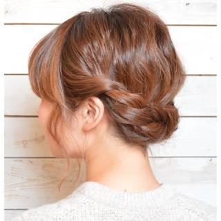 ねじり 編み込み 大人かわいい パーティ ヘアスタイルや髪型の写真・画像