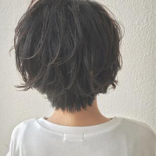 ショートボブ ゆるふわ ショート エアリー ヘアスタイルや髪型の写真・画像 ヘアスタイルや髪型の写真・画像