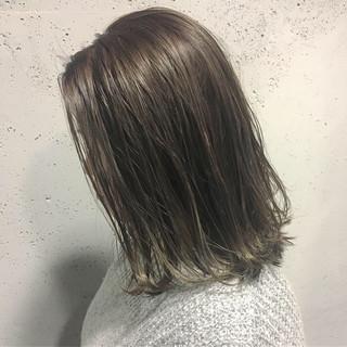 ブルーアッシュ 透明感カラー ナチュラル ヘアカラー ヘアスタイルや髪型の写真・画像 | KEISUKE IMAFUJI / and late