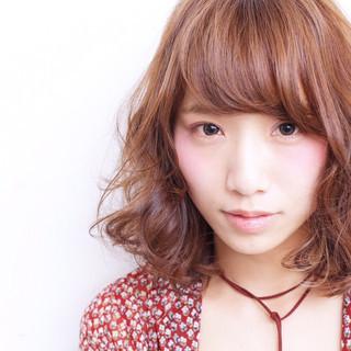 外ハネ 外国人風 ピュア 前髪あり ヘアスタイルや髪型の写真・画像