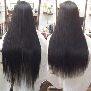 ストリート ロング 艶髪 アッシュ ヘアスタイルや髪型の写真・画像