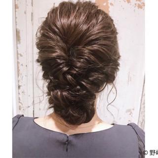 パーティ セミロング パーマ 簡単ヘアアレンジ ヘアスタイルや髪型の写真・画像