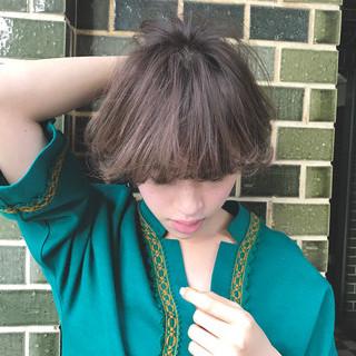 ナチュラル ボブ 色気 ニュアンス ヘアスタイルや髪型の写真・画像