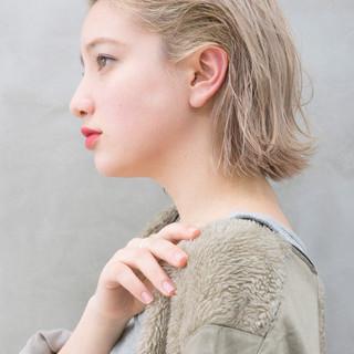 オールバック ボブ 切りっぱなしボブ モード ヘアスタイルや髪型の写真・画像   YORK / SUN(サン)渋谷