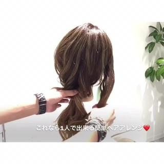 フェミニン 雨の日 女子会 セミロング ヘアスタイルや髪型の写真・画像
