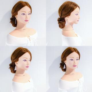ヘアアレンジ 簡単ヘアアレンジ デート オフィス ヘアスタイルや髪型の写真・画像