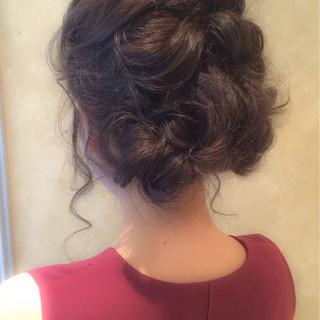 ねじり ルーズ ショート セミロング ヘアスタイルや髪型の写真・画像 ヘアスタイルや髪型の写真・画像
