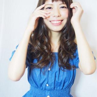 フェミニン 外国人風 ストリート 前髪あり ヘアスタイルや髪型の写真・画像