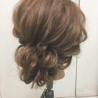 結婚式 ゆるふわ パーティ ヘアアレンジ ヘアスタイルや髪型の写真・画像
