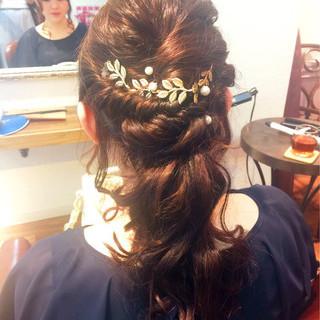 フェミニン 外国人風 ヘアアレンジ ゆるふわ ヘアスタイルや髪型の写真・画像