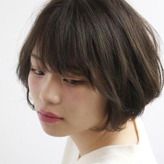 透明感 ボブ ナチュラル ダブルカラー ヘアスタイルや髪型の写真・画像 ヘアスタイルや髪型の写真・画像