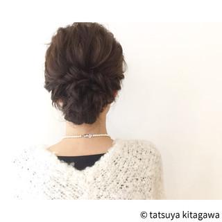 ヘアアレンジ セミロング 結婚式 アッシュ ヘアスタイルや髪型の写真・画像