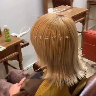 大人かわいい こなれ感 ボブ 切りっぱなしボブ ヘアスタイルや髪型の写真・画像