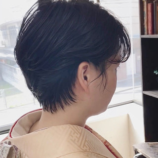 ショートヘア ショートアレンジ ショート ナチュラル ヘアスタイルや髪型の写真・画像 | Nakaji. / ensue
