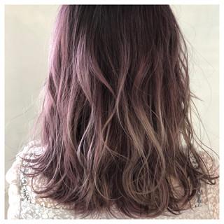 レッド ベージュ 外国人風カラー ガーリー ヘアスタイルや髪型の写真・画像