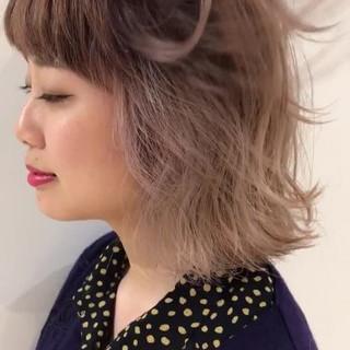 ブリーチ ボブ インナーカラー ストリート ヘアスタイルや髪型の写真・画像
