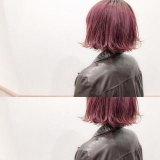 ボブ ハイトーン バレンタイン ストリート ヘアスタイルや髪型の写真・画像