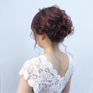 簡単ヘアアレンジ シニヨン 上品 ヘアアレンジ ヘアスタイルや髪型の写真・画像