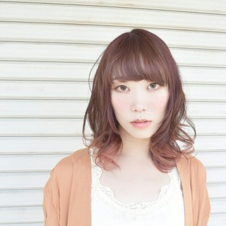 ナチュラル グラデーションカラー グレージュ ピンク ヘアスタイルや髪型の写真・画像 ヘアスタイルや髪型の写真・画像