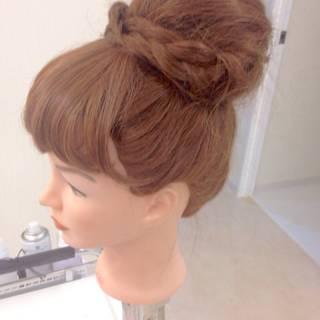 ロング 編み込み ヘアアレンジ ブライダル ヘアスタイルや髪型の写真・画像 ヘアスタイルや髪型の写真・画像