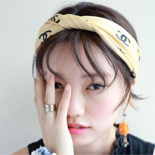 暗髪 外国人風 ナチュラル 簡単ヘアアレンジ ヘアスタイルや髪型の写真・画像