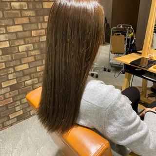 アイロンワーク ロング 透明感カラー 大人ロング ヘアスタイルや髪型の写真・画像