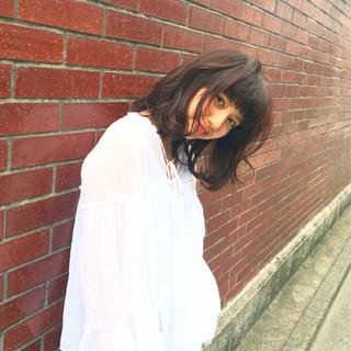 ナチュラル セミロング ワイドバング パーマ ヘアスタイルや髪型の写真・画像 ヘアスタイルや髪型の写真・画像