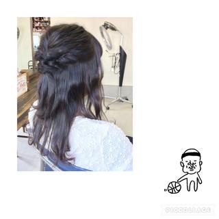 ショート ヘアアレンジ ハーフアップ ロング ヘアスタイルや髪型の写真・画像