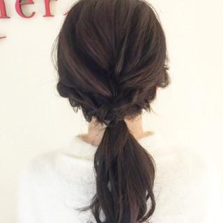 簡単ヘアアレンジ ヘアアレンジ ポニーテール ロング ヘアスタイルや髪型の写真・画像 ヘアスタイルや髪型の写真・画像