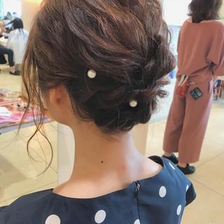 簡単ヘアアレンジ 結婚式 ショート ナチュラル ヘアスタイルや髪型の写真・画像