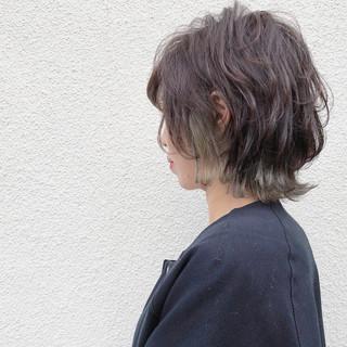 インナーカラー 外国人風カラー ショート ストリート ヘアスタイルや髪型の写真・画像