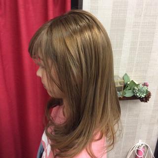 ガーリー セミロング ダブルカラー イルミナカラー ヘアスタイルや髪型の写真・画像 ヘアスタイルや髪型の写真・画像