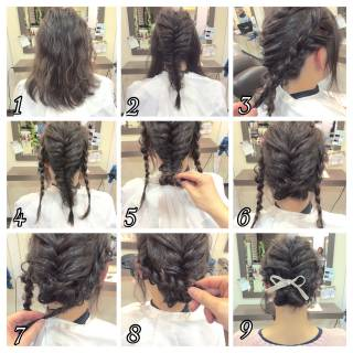 結婚式 ヘアアレンジ ルーズ コンサバ ヘアスタイルや髪型の写真・画像