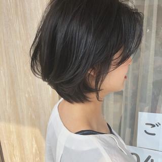 大人ショート ナチュラル ボブ ショートボブ ヘアスタイルや髪型の写真・画像
